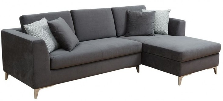 Virgilio Fossil Grey Fabric Sofa Chaise