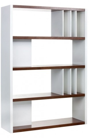 Lauderdale High Gloss White Bookcase