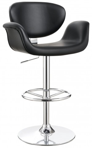 "29"" Black Adjustable Bar Stool"