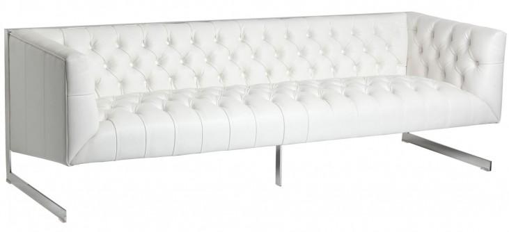 Viper White Leather Sofa
