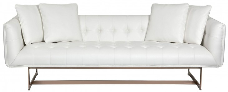 Matisse White Leather Sofa