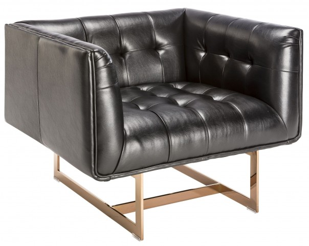 Matisse Black Leather Armchair