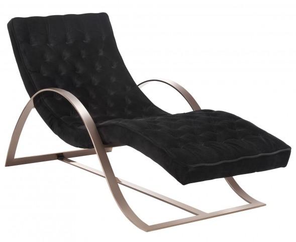 Palais Bella Black Fabric Chaise