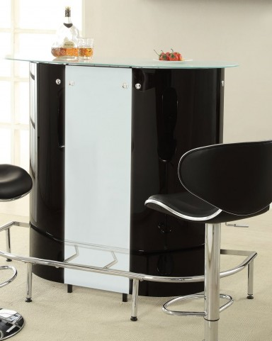 100654 Black/White Bar Table