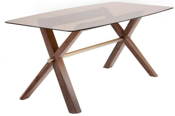 Melvin Brass Rectangular Dining Table