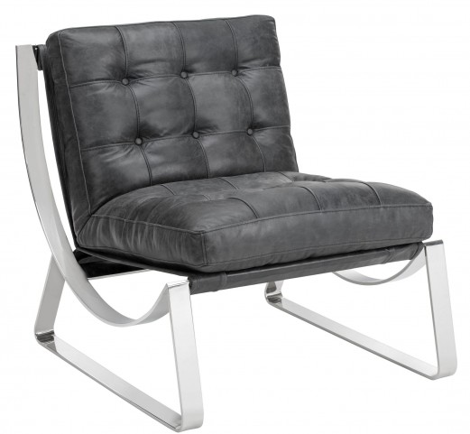 Tryst Profundo Black Leather Chair