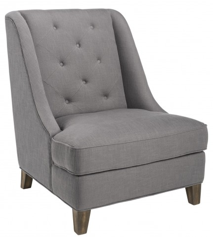 Selfridge Rhino Grey Fabric Armchair