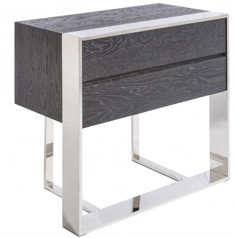 Dalton Black 3 Drawer End Table