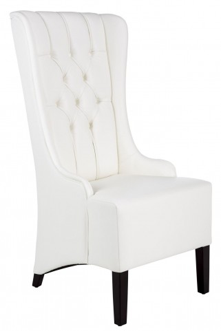 Napa White Leather Dining Chair