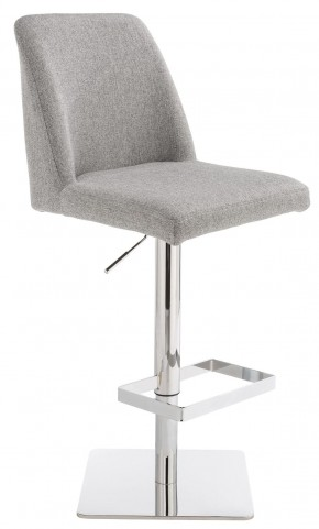 Piper Stone Grey Fabric Adjustable Barstool