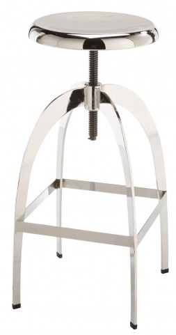 Colby Chrome Adjustable Barstool