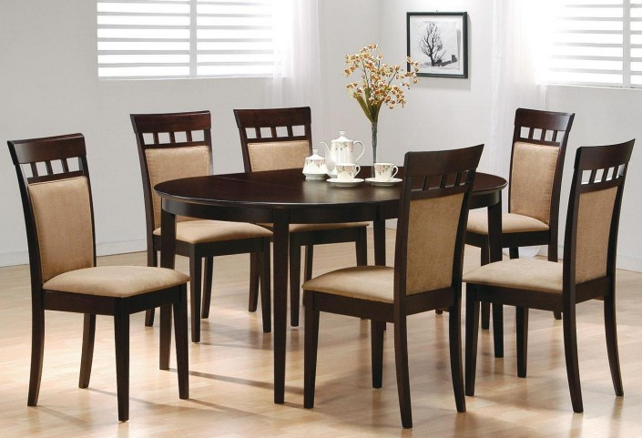 Mix & Match Cappuccino Oval Dining Room Set