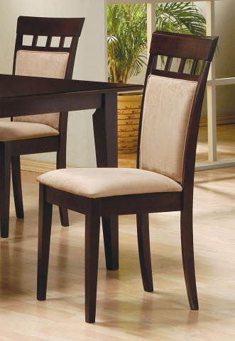 Mix & Match Cappuccino Cushion Back Chair Set of 2