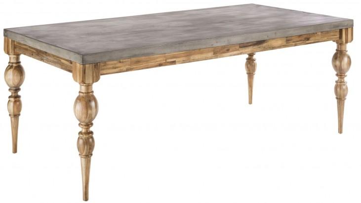 Louis Golden Distressed Rectangular Dining Table