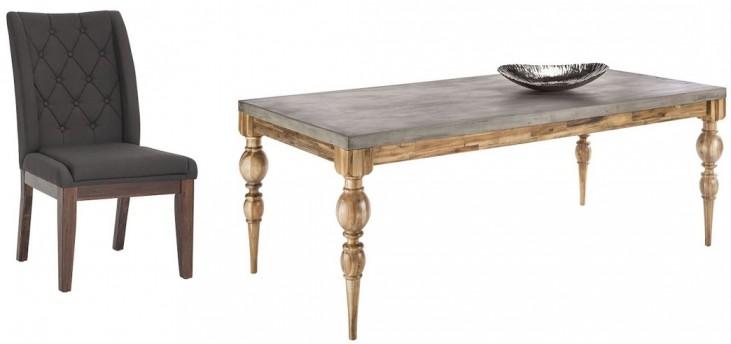 Louis Golden Distressed Rectangular Dining Room Set