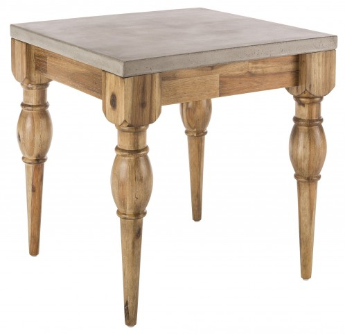 Louis Golden Distressed End Table