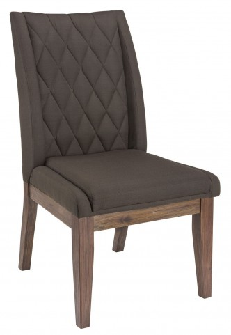 Maxwell Dark Charcoal Fabric Dining Chair Set of 2