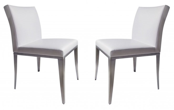 1008-DC White Dining Chair Set of 2
