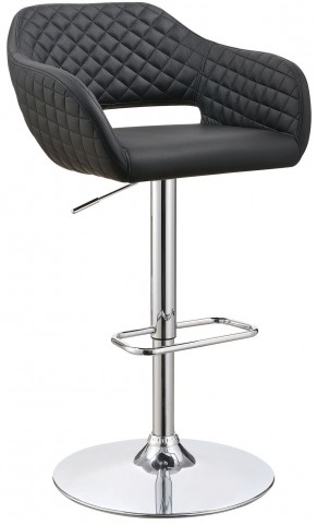 "25"" Black Adjustable Bar Stool"