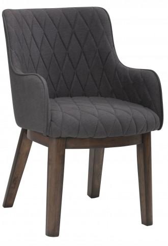 Avery Charcoal Fabric Armchair