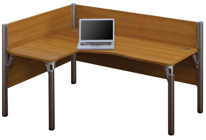 Pro-Biz Cappuccino Cherry Single Left L-Desk