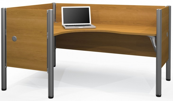 Pro-Biz Cappuccino Cherry Single Left L-Desk Workstation