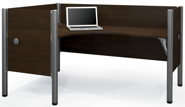 Pro-Biz Chocolate Left Single L-Desk Workstation