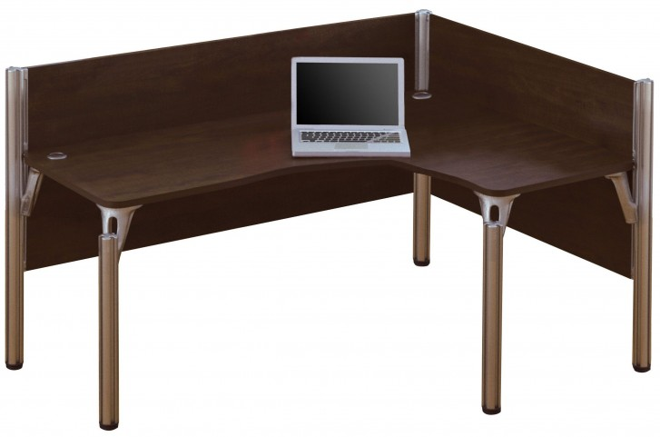 Pro-Biz Pro-Biz Chocolate Single Right L-Desk Workstation