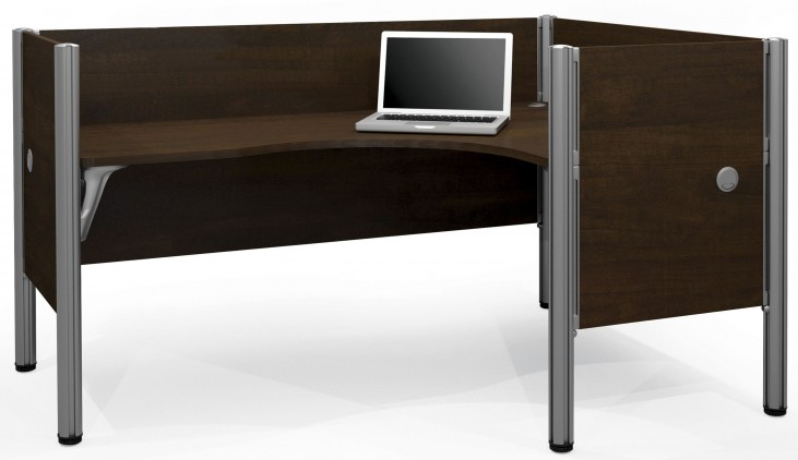 Pro-Biz Chocolate Right Single L-Desk