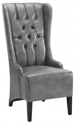Napa Grey Leather Dining Chair