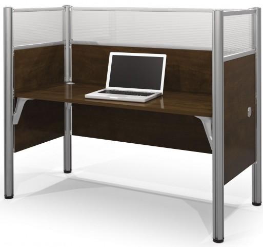 Pro-Biz Chocolate Simple Glass Panel Desk