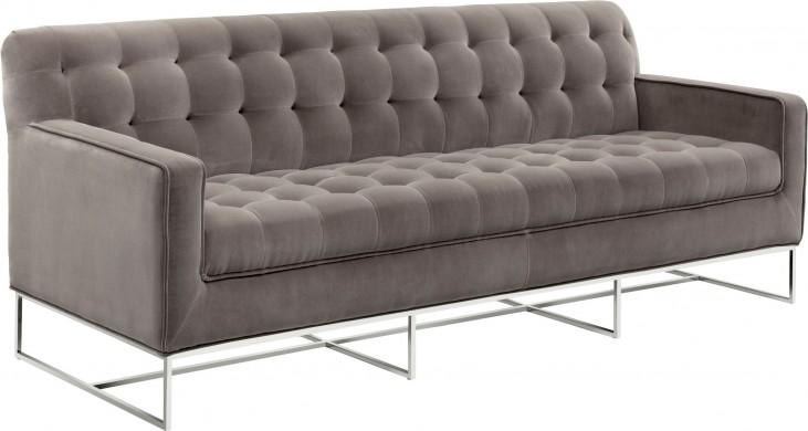 Alexandria Giotto Grey Fabric Sofa