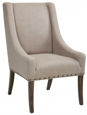 Westwood Tan Linen Fabric Dining Chair