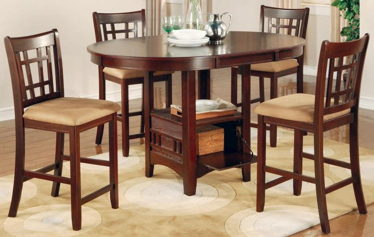 Lavon Dark Cherry Counter Height Table Set