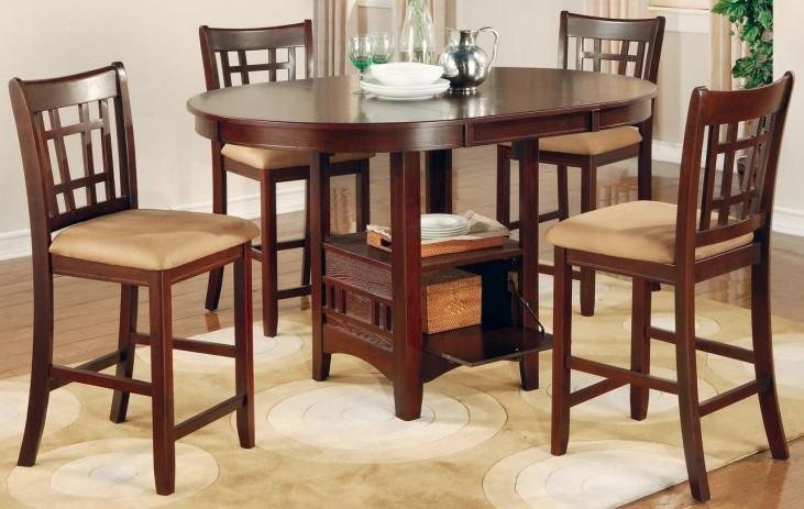Lavon Dark Cherry Counter Height Table Set
