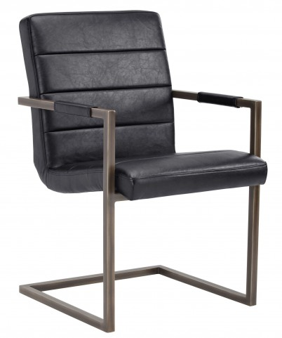 Jafar Vintage Black Armchair Set of 2