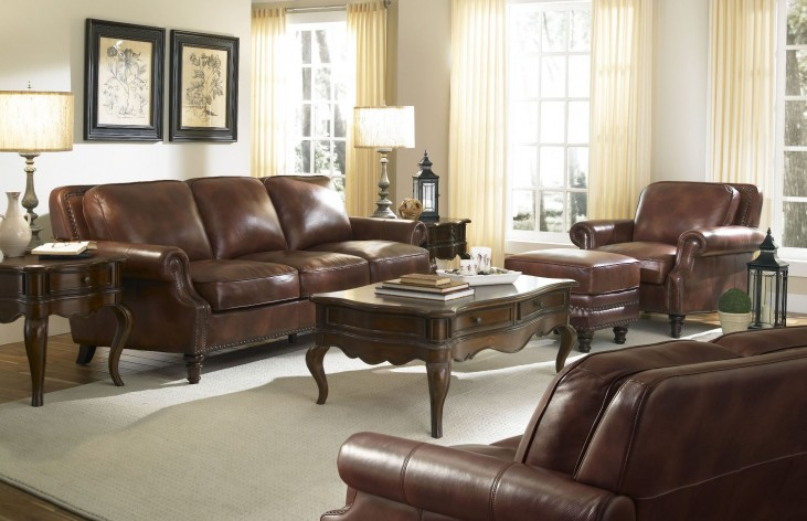 Bentley Rustic Savauge Leather Living Room Set