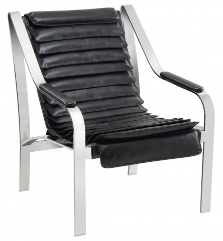 Canberra Black Leather Chair