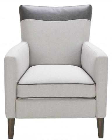 Aston Silver Linen Fabric Armchair