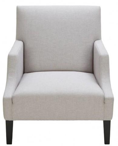 Miranda Silver Linen Fabric Armchair