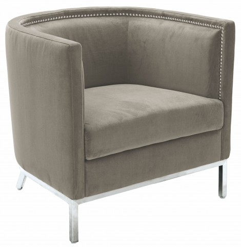 Wales Portsmouth Grey Fabric Arm Chair