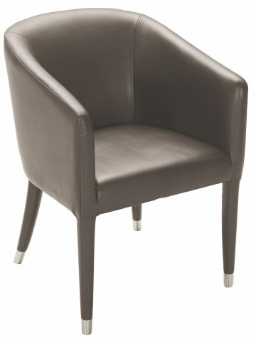 Marcus Dove Grey Leather Armchair