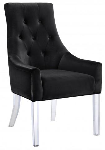 Charisma Black Fabric Chair