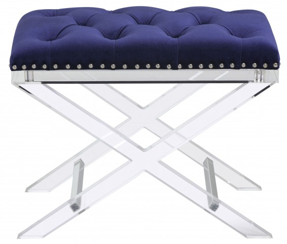 Allura Royal Blue Fabric Bench