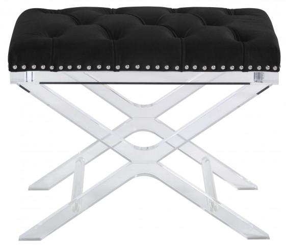 Allura Black Fabric Bench
