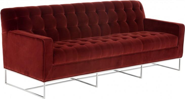Alexandria Giotto Marsala Fabric Sofa