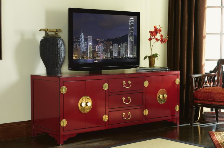 Studio Designs Red Pacific Isles TV Console