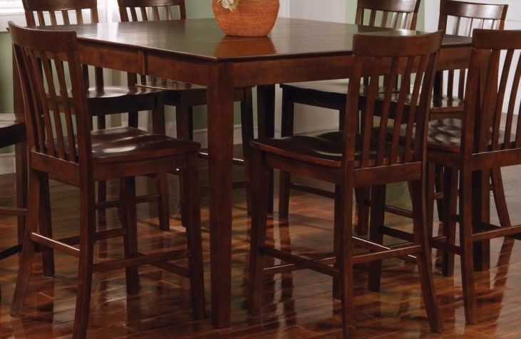 Pines Walnut Square Counter Height Table