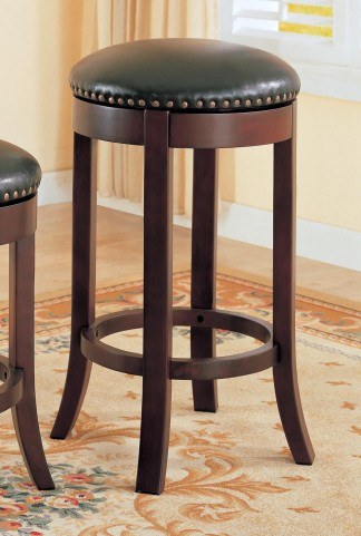 "Wooden Walnut 29"" Bar Stool 101060 Set of 2"