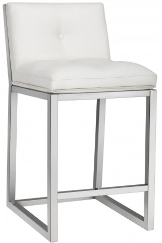 Alba White Counter Stool